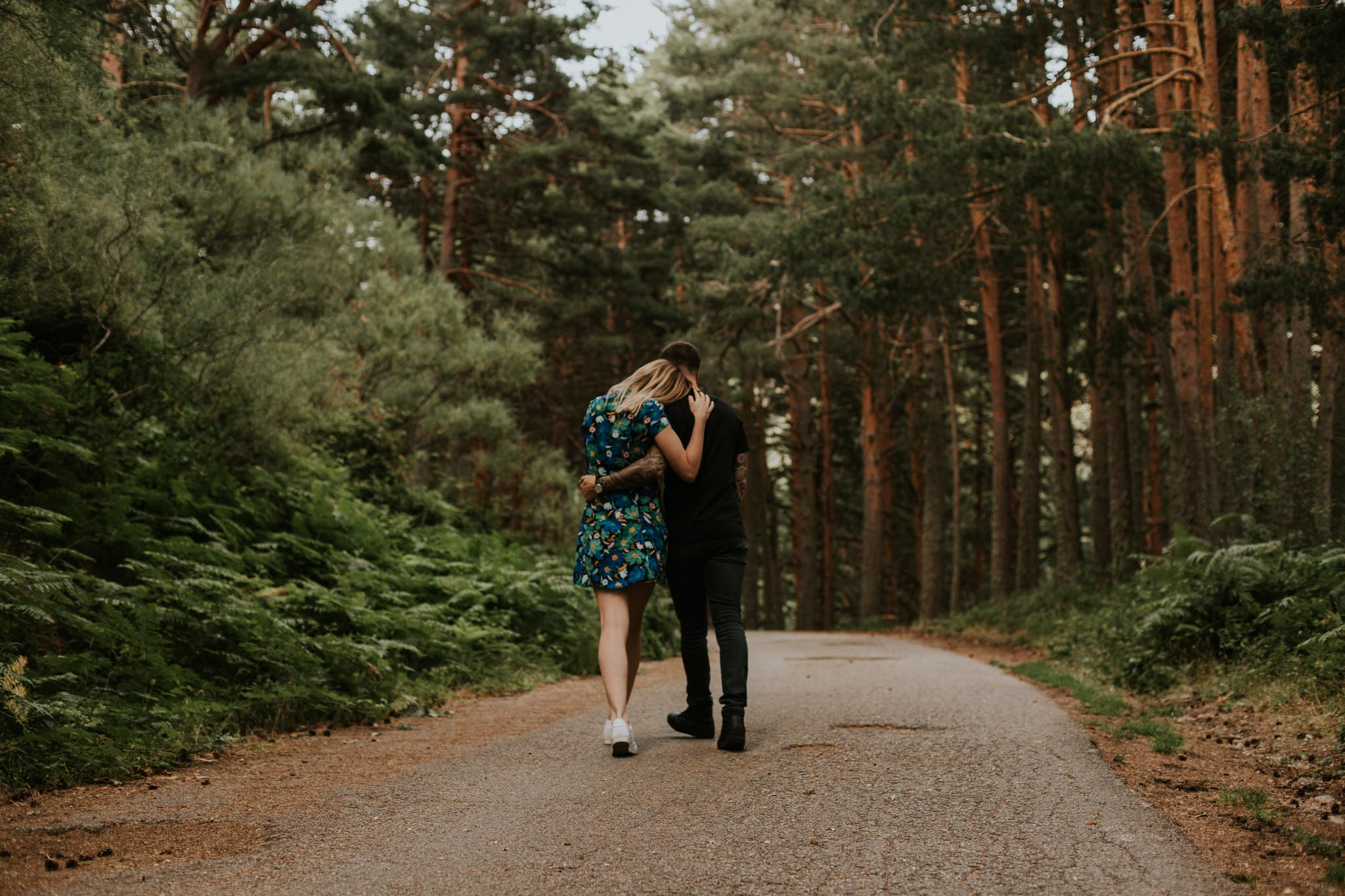 Fotografia pareja bosque 11 Concorazon