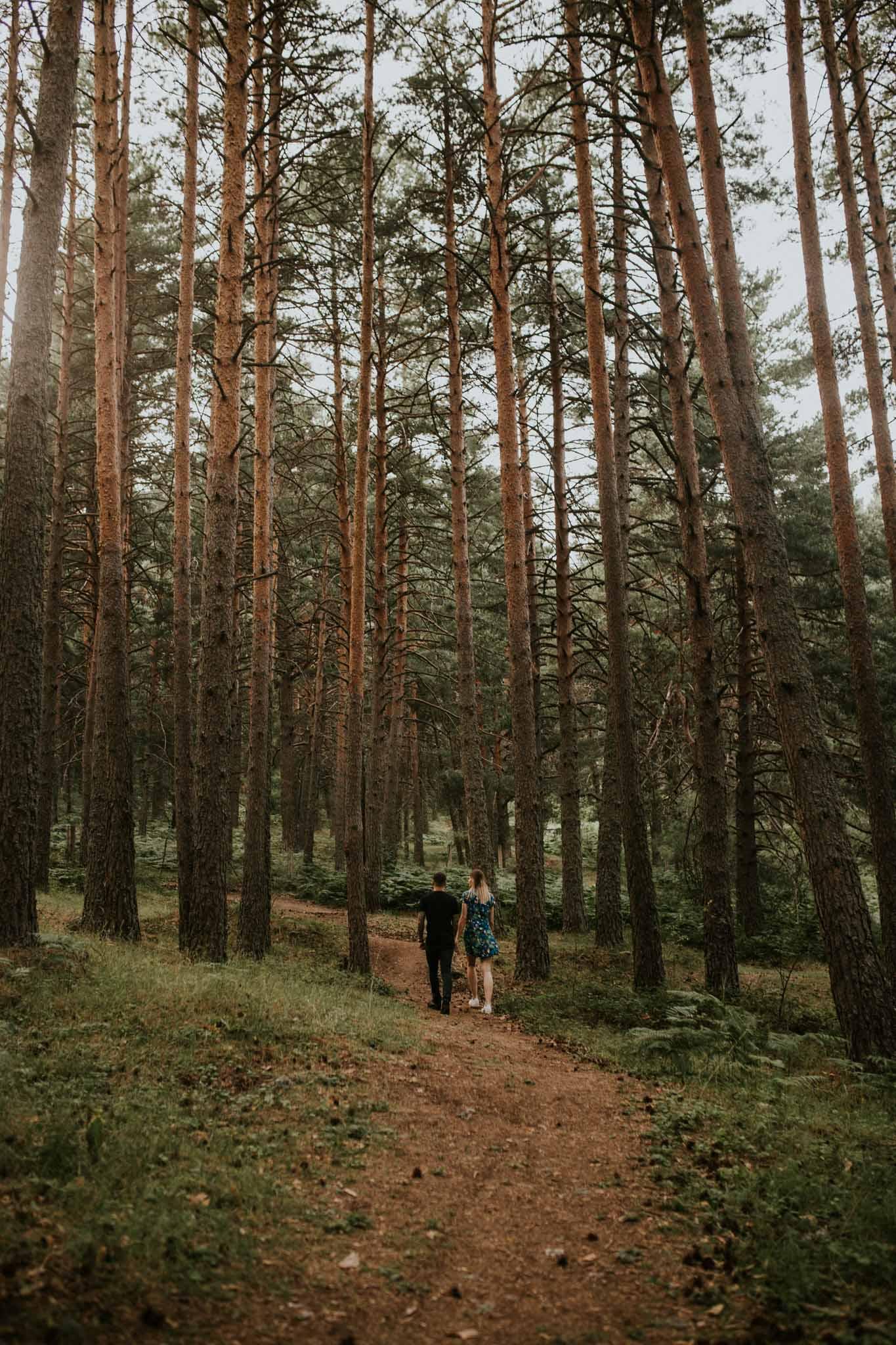 Fotografia pareja bosque 5 Concorazon